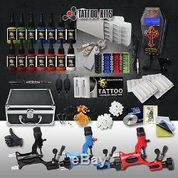 Kit Complet Professionnel De Tatouage 3 Aiguilles De La Mitrailleuse Rotative 14color 14color