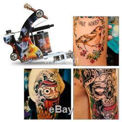 Kit Complet Tattoo 4 Machine Gun 40 Couleur Aiguille D'alimentation D'encre D'alimentation Set Tip Grip