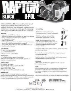 Kit De Doublure De Caisse De Camion Durable Noir U-pol Raptor (pistolet Non Inclus)