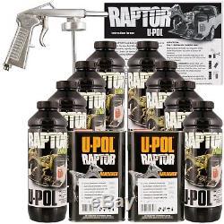 Kit De Doublure De Caisse De Camion Teintable U-pol Raptor Avec Pistolet Pulvérisateur Gratuit, Upol 8 Litres