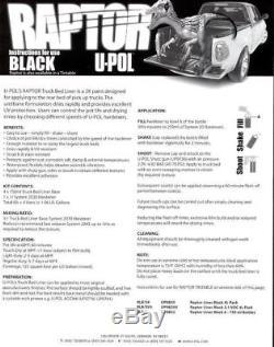 Kit De Doublure De Caisse De Camion U-pol Upol 820v Raptor Noir En Uréthane À Pulvériser Avec Pistolet 726