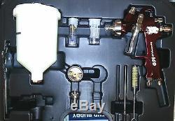 Kit De Pulvérisateur Gv Pro Hvlp Gravity Dans Un Étui 1.3mm / 1.8mm Pistolet Inclus 2 Conseils Inclus