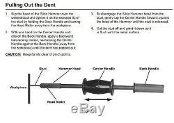 Kit De Reparation Dent Hammer Dent Avec Goujons Et Embouts À Souder Auto Body Stud