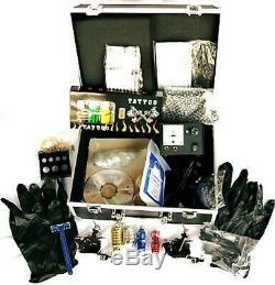 Kit De Tatouage Complet / 3 Pistolets, Encre, Aiguilles, Machine. Vendeur Britannique