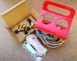 Kit Oxy Portable Comprenant 3 Têtes X 1 Set De Tuyaux 1 X Pistolet De Torche Et Accessoires