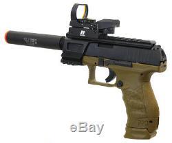 Kit Pistolet Airsoft À Pompe À Gaz Mk2 Anm Custom Walther Ppq Pour Opérateur Tactique
