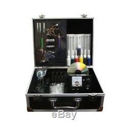 Kit Professionnel Britannique De Tatouage 2 Pistolets / Machine, Aiguilles, Encre