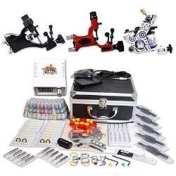 Kit Professionnel Complet De Tatouage 3 Mitrailleuse Rotative Supérieure 40color Encres 20needles