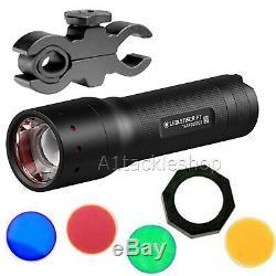 Led Lenser P7 Portée Tactique Montée Pistolet / Fusil Lampe Torche Inc Filtre Kit