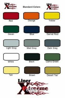 Linerxtrreeme 1,5 Couleur Kit Vaporiser Bedliner Vous Choisissez La Couleur 6 Litres Withgun