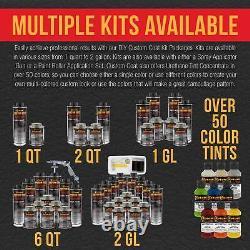 Linge De Lit Custom Coat Black 0.875 Gal Uréthane Spray-on Truck Kit Free Spray Gun