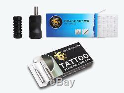 Machine De Tatouage Professionnel Kit 5 Guns Alimentation 54 Safe Encres Set
