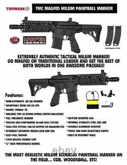 Maddog Tippmann Tmc Magfed Titanium Co2 Paintball Gun Marker Starter Kit Noir