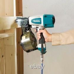 Makita An613 Pneumatic Coil Nailer Air Pin Gun Et 9000 2.3 50mm Flat Coil Nails