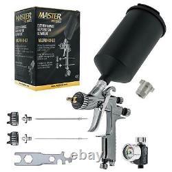 Master Pro 88 Hvlp Spray Gun Kit 1.3, 1.4, 1.8 MM Conseils, Régulateur & Adaptateur