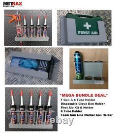 Mega Deal Van Storage Bundle Trousse De Premiers Soins, Boîte À Gants Et 1 Pistolet 4 Porte-tubes