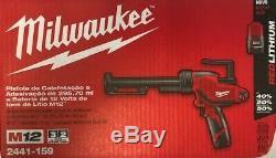 Milwaukee 2441-159 M12 Li-ion 10 Oz Calfeutrer Et Adhésif Gun Kit 220-240v Euro