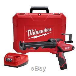 Milwaukee 2441-21 M12 Li-ion 10 Oz. Kit De Pistolet À Calfeutrer Et Adhésif Nouveau