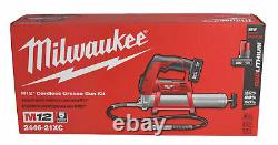 Milwaukee 2446-21xc M12 12v Kit De Pistolet À Graisse Sans Fil 3.0 Ah