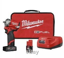 Milwaukee 2552-22 M12 Fuel Kit Clé Pour Pistolet À Percussion Sans Fil À 1/4 Entraînement
