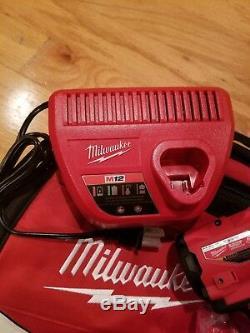 Milwaukee 2554-22 M12 Fuel Clé À Molette À Percussion Sans Fil À Entraînement 3/8 Sans Clé Kit Nouveau