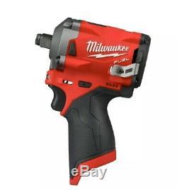Milwaukee 2555-20 M12 Fuel Stubby Sans Fil 1/2 Gun Kit D'entraînement D'impact Clé