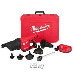 Milwaukee 2572b-21 - Kit De Pistolet À Air Comprimé Pour Nettoyage De Drain Airsnake 12 Volts