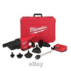Milwaukee 2572b-21 M12 Airsnake Kit De Pistolet À Air De Nettoyage Au Drain Li-ion Nouveau