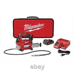 Milwaukee 2646-21ct M18 2 Vitesses Sans Fil Grease Gun Kit 48 Tuyau Flexible