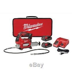 Milwaukee 2646-22ct M18 2 Speed grease Gun Kit Avec 2 Batteries Et Chargeur