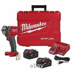 Milwaukee 2855-22 M18 Fuel Compact 1/2 Drive Stubby Impact Gun Wrench Kit