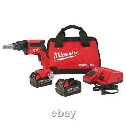 Milwaukee 2866-22 M18 Fuel Drywall Screw Gun Kit Avec Batterie 2x 5.0ah Nouveau