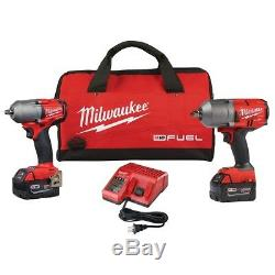 Milwaukee 2993-22 2 Pc M18 Fuel Kit Auto 1/2 Et 3/8 Clé À Chocs À Chocs