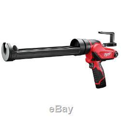 Milwaukee Carburant M12 2444-21 12 Volt Pintes Calfeutrer Et Adhésif Kit Gun