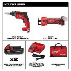 Milwaukee M18 Fuel 18 Volts Au Lithium-ion Sans Balais Sans Fil Cloison Sèche Vis Kit Gun