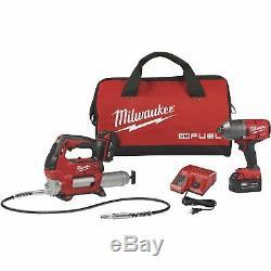Milwaukee M18 Fuel Outil Sans Fil Kit- Salut Couple 1 / 2po Clé À Chocs, Grease Gun