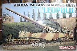 Modèles Dragon 135 Échelle Allman Railway Gun 28cm K5(e) Leopold Kit No. 6200-03