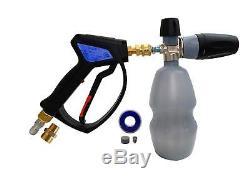 Mtm Hydro Professional Premium 28 - Kit De Canon À Mousse Et Pistolet Pulvérisateur En Acier Inoxydable