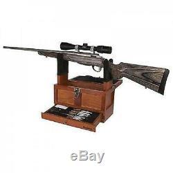 Nettoyage Pistolet Universel Kit Fusil Fusil À Pompe Pistolet Clean Set Bois Coffre À Outils Tiroir