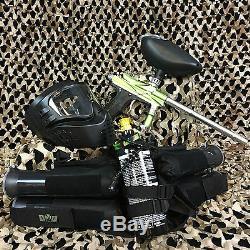 Nouveau Azodin Blitz 3 Epic Paintball Marker Gun Package Kit Vert / Argent