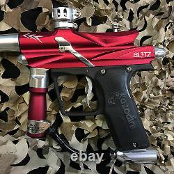 Nouveau Azodin Blitz 3 Legendary Paintball Marker Gun Package Kit Rouge / Argent