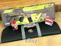 Nouveau Dpms Crosman Pleine Co2 Auto Powered Bb Gun Carabine À Air Comprimé Sbr Brown Paquet Kit