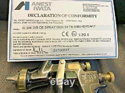 Nouveau Iwata W300 Elite 1.2mm Kit Refinish Spot Chrome Foncé / Gold Wb Spray Gun Sr