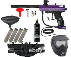 Nouveau Kingman Spyder Victor Epic Complete Paintball Gun Kit Gloss Purple