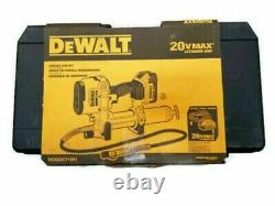 Nouveau Kit Dewalt Dcgg571m1 20v Max Cordless Li-ion Grease Gun Kit Avec Vente De Caisse