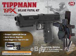 Nouveau Kit Tippmann Tipx Pistol Tactical Woodsball Sim Paintball Gun Marker Deluxe