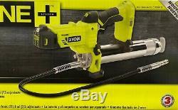 Nouveau Ryobi 18v P3410 Sans Fil Grease Gun Kit (1) Batterie & Chargeur P191 P118b