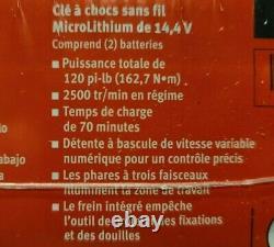 Nouveau Scellé Snap On Gun Metal Gris 3/8 Dr. 14,4 V. Sans Fil D'impact Kit Ct761agmw2