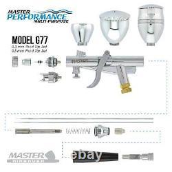 Nouveau Spray Gun Pistol Trigger Airbrush Avec Réservoir Air Compressor Auto Paint
