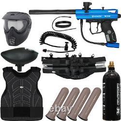 Nouveau Spyder Victor Light Gunner Paintball Gun Kit Paquet Bleu